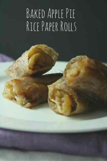 Baked Apple Pie Rice Paper Rolls