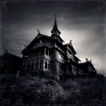 Black And White Scary Haunted House