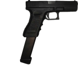 Glock With Extended Clip