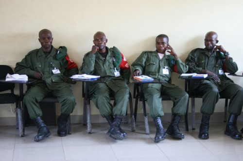 FARDC training.