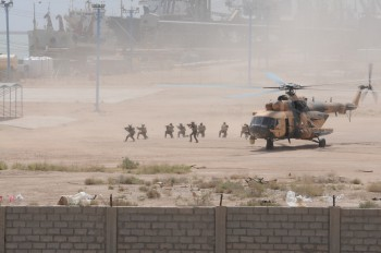 Iraqi troops from the 6th Regional Commando Battalion are inserted by helicopter during a combined training exercise with American forces in 2011 (Photo: U.S. Army).