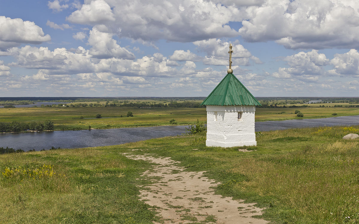 Oka River from Konstantinovo village, Ryazan Oblast, Russia