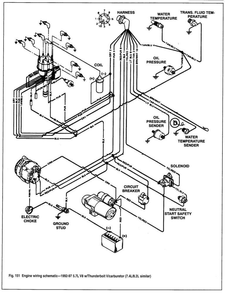 wiring diagram mercruiser 454