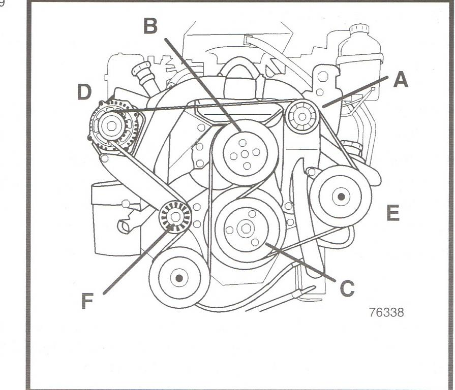 engine belt diagram 502 mercruiser