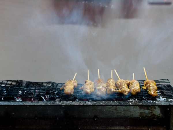 Satay on the grill