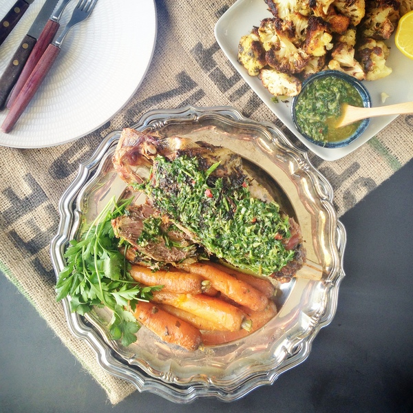 Goat with chimichurri