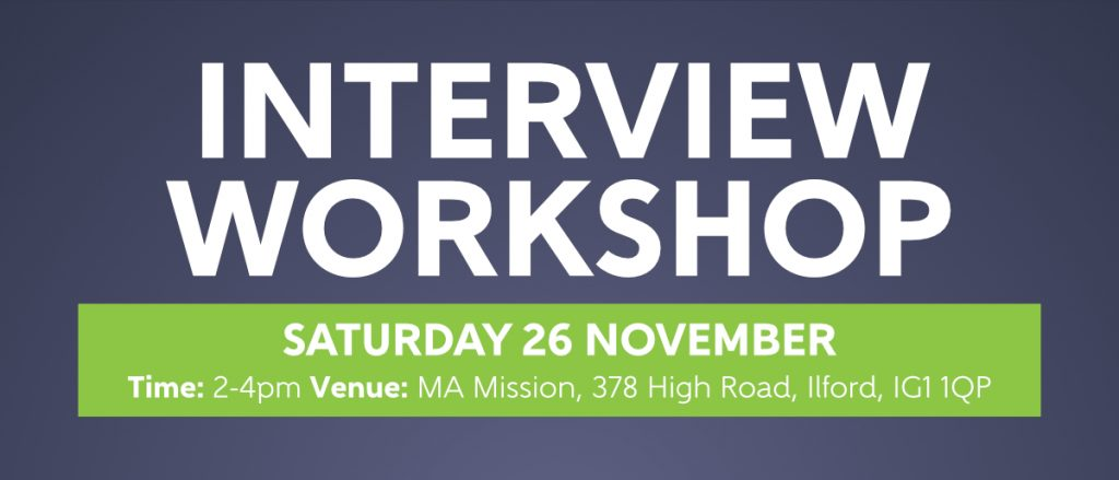Interview Workshop - OFF THE STREET