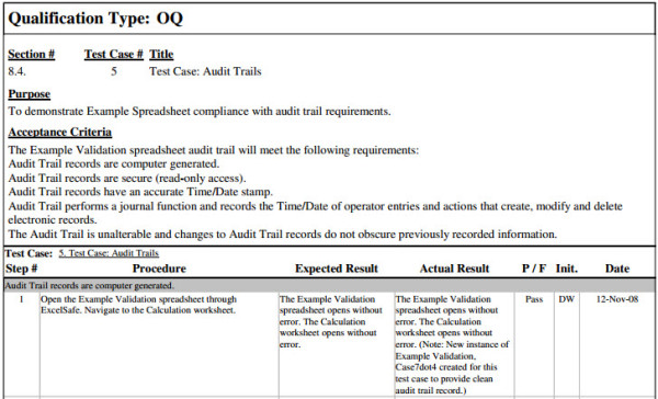 FastVal Operational Qualification Template Ofni Systems