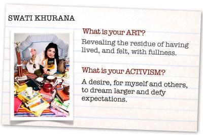 SWATI KHURANA. WHAT IS YOUR ART