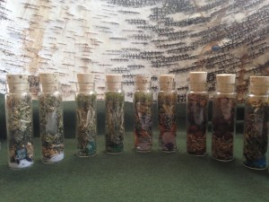 Elemental Witch bottles: Earth, Air, Fire, Water, Ether