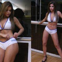 Fotos: Cacau Colucci mostra o corpão durante ensaio como ring girl