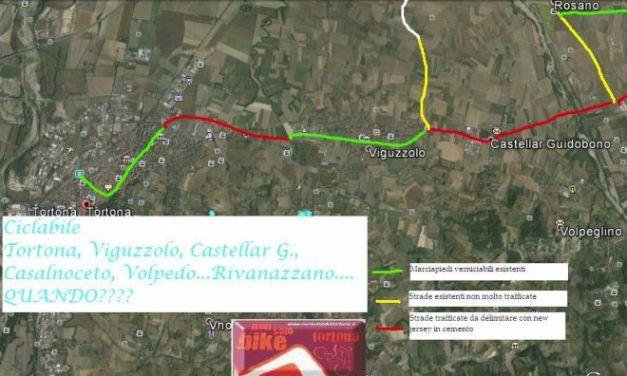 """Una pista ciclabile fra Tortona e Viguzzolo. La propone l'associazione """"Nonsolobike"""""""