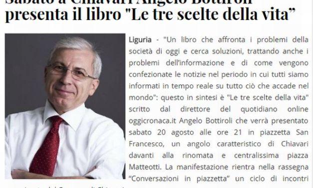 """Su Genova post e Levante news si parla de """"Le tre scelte della vita"""" il libro del tortonese Angelo Bottiroli"""
