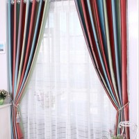 Multi Colored Living Room Curtains | Baci Living Room