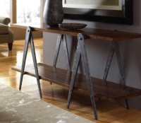 Hand Forged Steel Sawhorse Table Legs. Sofa Table Base ...