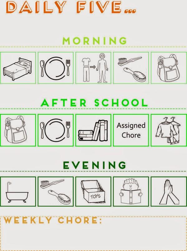 daily checklist for kids - Alannoscrapleftbehind - daily checklist