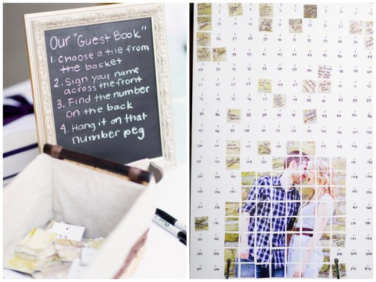 guestbook alternative | handmade North Carolina wedding | Nathan Abplanalp Photography