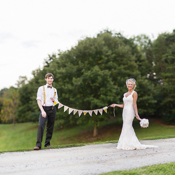 the happy couple | handmade North Carolina wedding | Nathan Abplanalp Photography