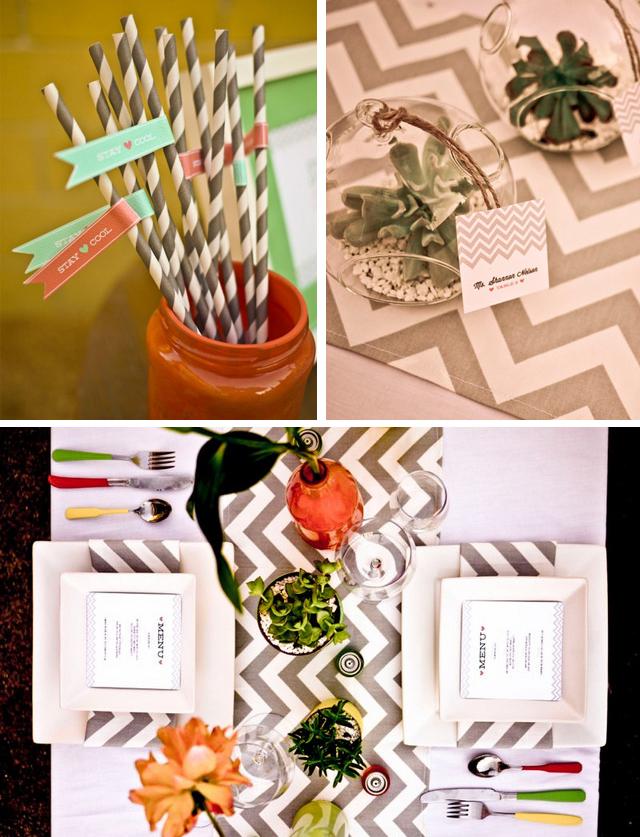 modern palm springs wedding shoot | Something Events