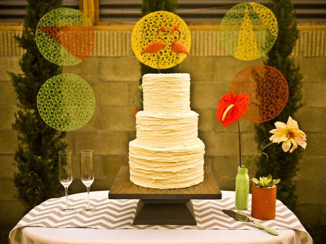 modern palm springs wedding