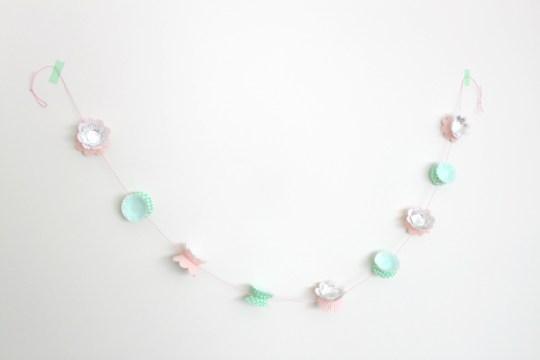 cupcake liner garland DIY