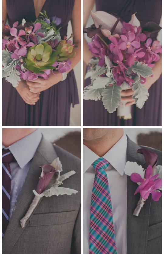 purple florals in this modern wedding inspiration shoot | roey mizrahi events and amber gress photography