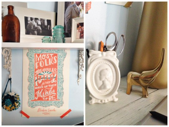 tips for updating your living space: add art & vintage finds