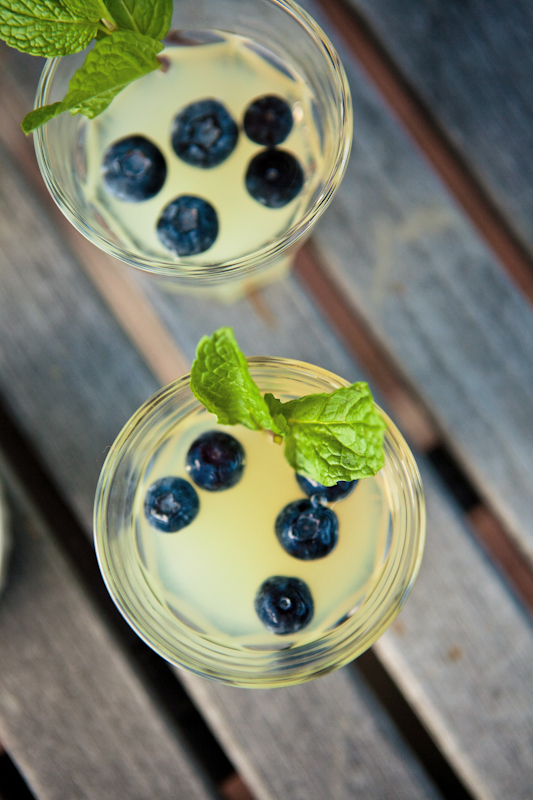Blueberry lemonade fizz from Valley & Co. | Rippee Photography