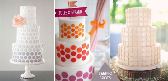polka dotted wedding cakes
