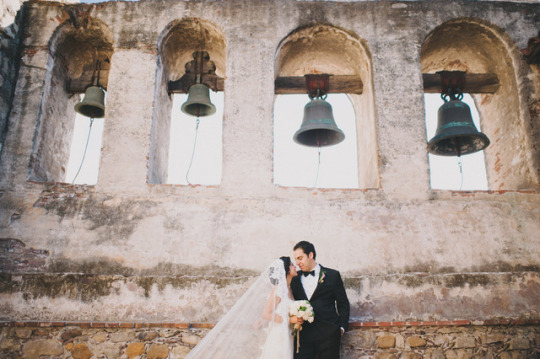 Top Weddings of 2013 on Oh Lovely Day | Glamorous San Juan Capistrano Mission Wedding by Heidi Ryder Photography