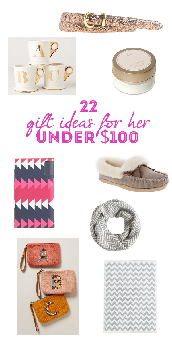 22 Gift Ideas for Her under $100 | Oh Lov