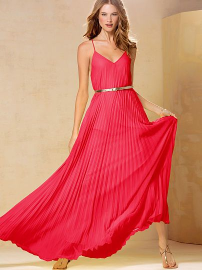 red maxi dress for Valentine's Day