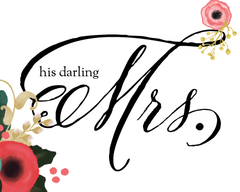 free printable MRS. chair sign from KM Paperie on Oh Lovely Day