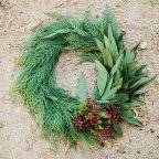 DIY Winter Wreath for Christmas | MV Florals & Megan Welker on Oh Lovely Day