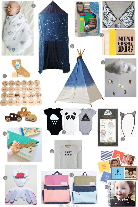 Oh Lovely Day Holiday Gift Guide for Littles 2015