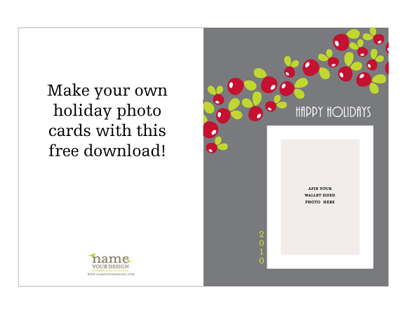 Free Download Printable Holiday Photo Card \u2013 Oh My! Handmade