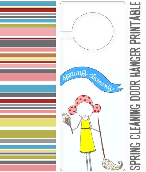 Spring Cleaning Door Hanger Printable + Help Checklist \u2013 Oh My! Handmade