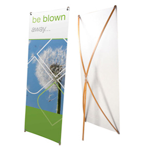 Bamboo X Frame Banner Front and Back