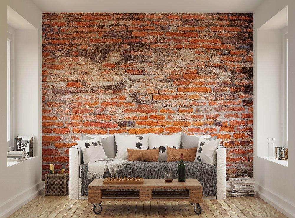 Wallpaper Batu Alam 3d Red Brick Wallpaper Mural Ohpopsi