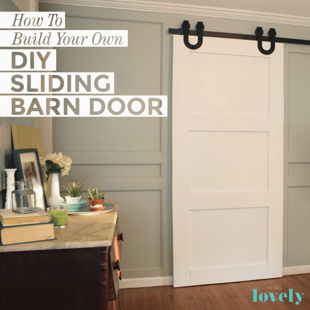 DIY  //  HOW TO BUILD YOUR OWN SLIDING BARN DOOR