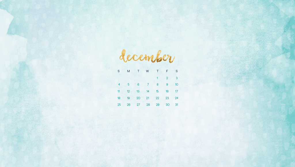 December calendar wallpapers
