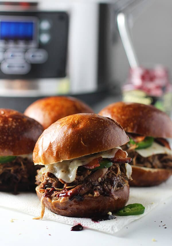 Slow-Cooker Blackberry and Jalapeno Chicken Sandwiches 4
