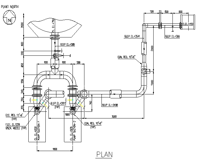 piping layout of diaphragm pumps