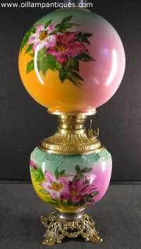 Gone with the Wind Parlour Lamp - Oil Lamp Antiques