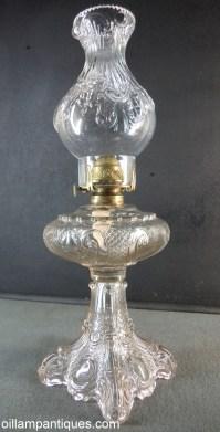 Antique Princess Feather Lamp - Oil Lamp Antiques