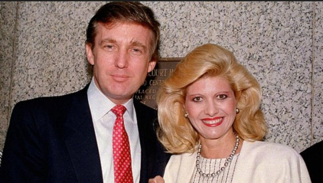Donald Trump with wife Ivana Trump