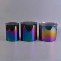 different types ion plating of candle holders, glass ...