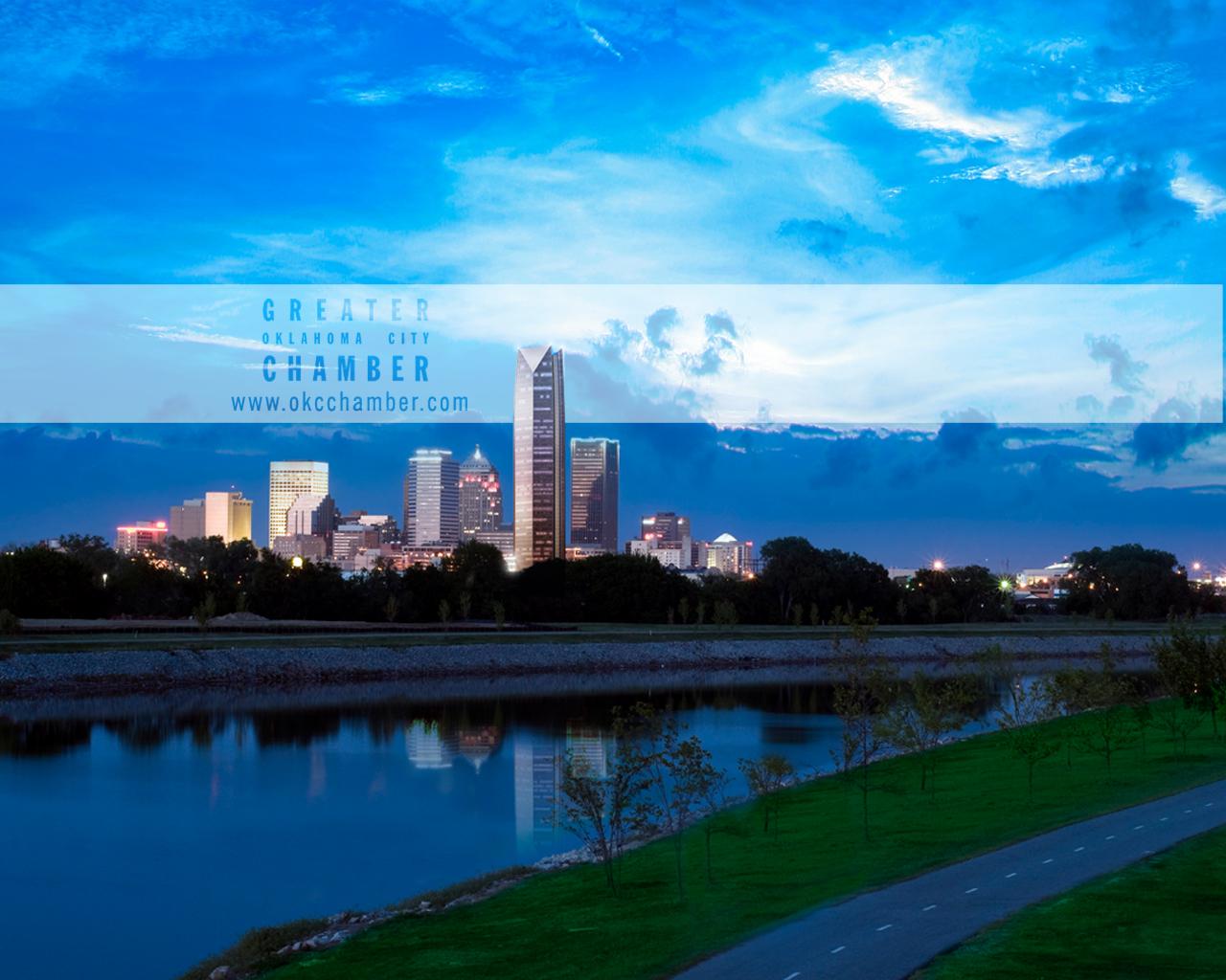 City Skyline Wallpaper Iphone Greater Oklahoma City Chamber Desktop Wallpaper