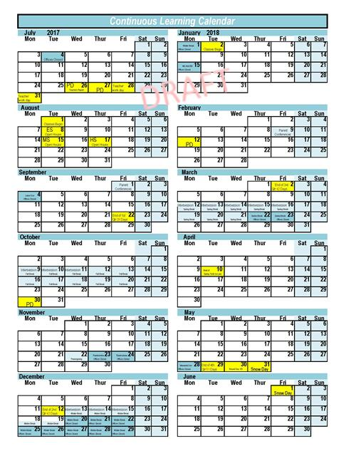 District Calendar Information / Sample Calendars