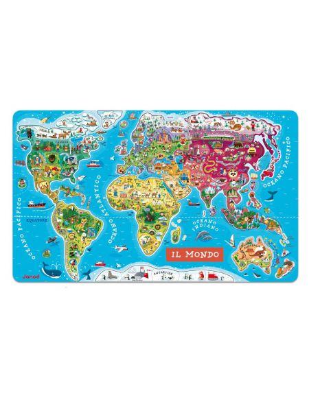 cartina geografica del mondo magnetica